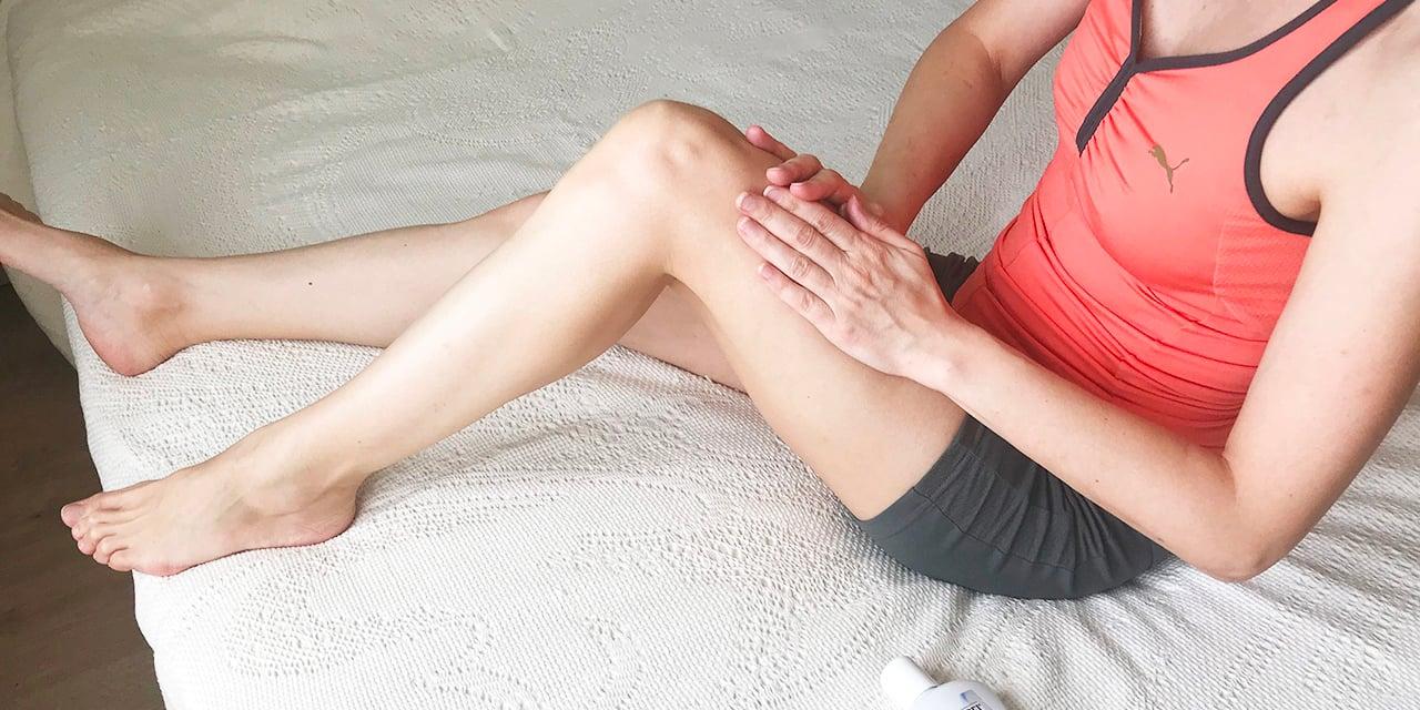 Лимфодренажный массаж начинается с передней части бедра